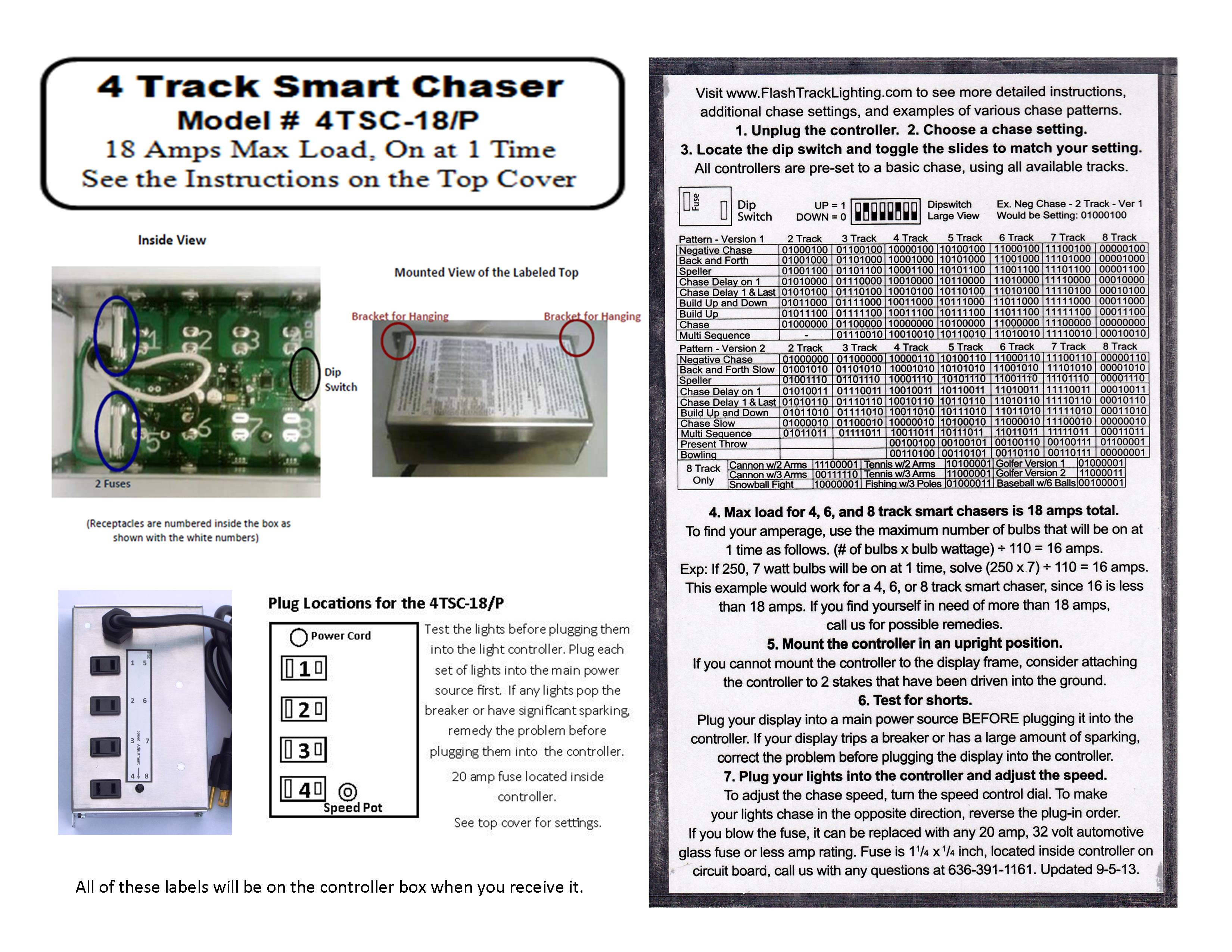 Flash Track Lightings Smart Chasers Chase Light Controllers By Led Chaser The Leds In This Circuit Produce A Chasing Pattern 4 4tsc 18 240